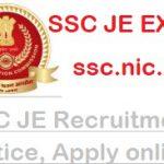 ssc JE Recruitment 2019-2020| Notification| Exam dates| govtjobs2019.in